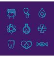 Medicine logos vector image
