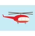 Vintage helicopter vector image