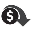 Dollar Decrease Icon vector image