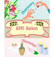 Promotional posters Spa manicure vector image vector image