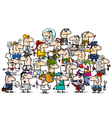 professional people group cartoon vector image vector image