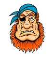 Pirate with red beard vector image vector image