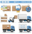 Postal Icons Set 3 vector image