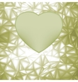 Elegant heart frame with space for concept EPS 8 vector image vector image