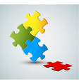 Abstract puzzle solution background vector image vector image