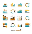 Infographic set elements graph diagrams vector image