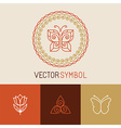 set of line butterfly logos and icons vector image vector image