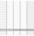 Set of seamless patterns with circles and dots vector image