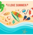 Seaside beach and tourist things vector image