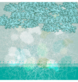 Abstract blue grunge greeting card vector image