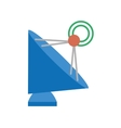antenna dish radar technology icon vector image