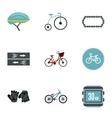 Bike icons set flat style vector image