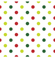 Christmas Polka Dot background in red and green vector image