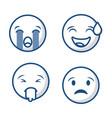 emoticons faces icon vector image