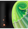Green abstraction on black background vector image