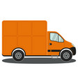 orange truck side view isolated on white vector image