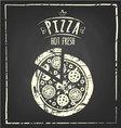 pizza chalkboard vector image