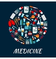 Medicine symbols background with icons vector image vector image