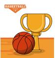 basketball sport trophy ball design vector image