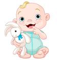 Cute baby boy vector image vector image