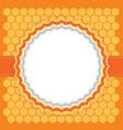 Honeycomb frame vector image