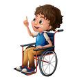A man in a wheelchair vector image vector image