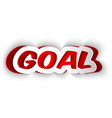 paper word GOAL vector image vector image