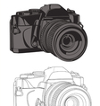 35mm camera vector image