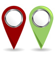 location pins vector image vector image