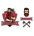 hipster look lumberjack vector image