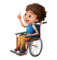 A man in a wheelchair vector image