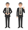 a young cartoon style smiling businessma vector image