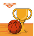 basketball sport trophy ball design vector image
