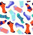Different types of socks vector image