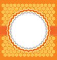 Honeycomb frame vector image