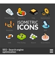 Isometric outline icons set 7 vector image