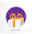 online shopping gifts concept vector image