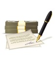 Paperwork for cash money vector image