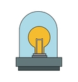 Isolated robot with light bulb design vector image