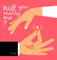 will you marry me poster vector image