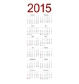 modern 2015 calendar on white vector image