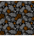 Fishes and Shells seamless pattern vector image