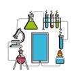 Science lab design vector image