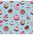 Seamless Yummy pattern vector image