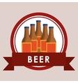 beer bottles label vector image