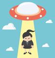 choosing worker business woman vector image