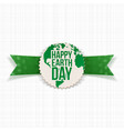 Happy Earth Day Banner Template and green Ribbon vector image