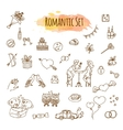 Hand Drawn Doodle Love and Romantic vector image