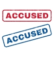 Accused Rubber Stamps vector image