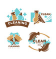 home cleaning service icons set brooms vector image